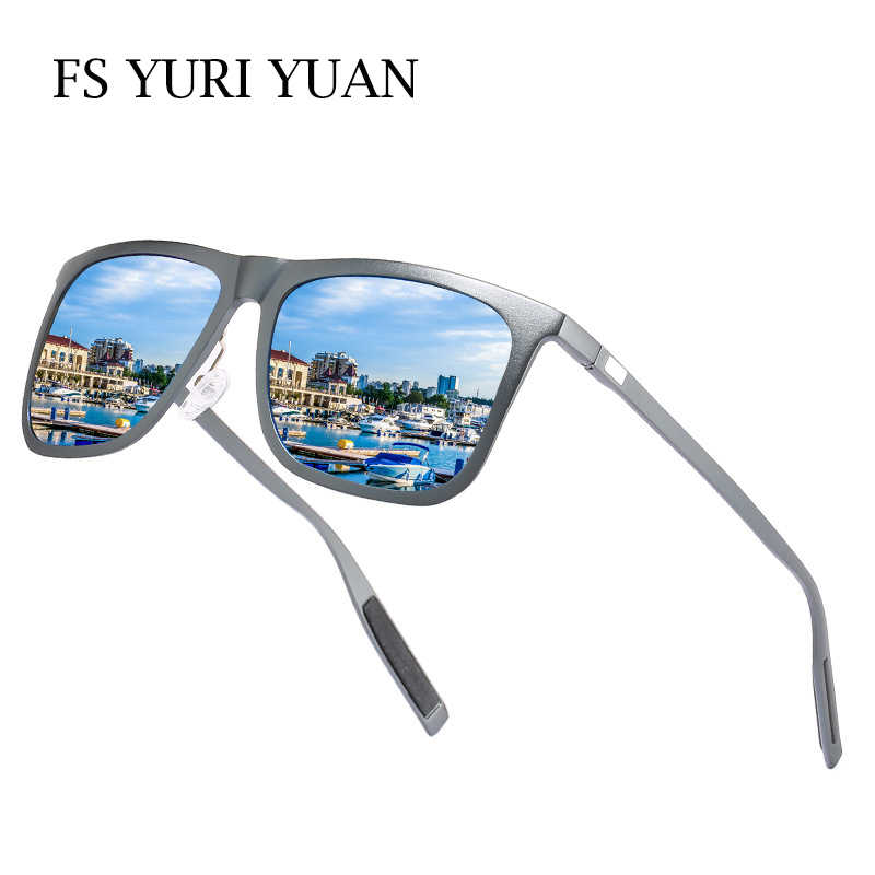 de7291d59d FS YURI YUAN Men Polarized Fishing Sunglasses Aluminum Magnesium Frame Male  Cycling Hiking Glasses Sports Fishing