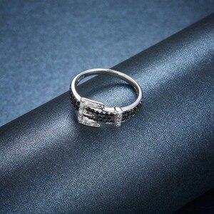 Image 5 - Hutang יהלומי חתונת טבעות טבעי חן ספינל 925 סטרלינג כסף חגורת צורת טבעת בסדר אבן תכשיטי עבור נשים בנות חדש