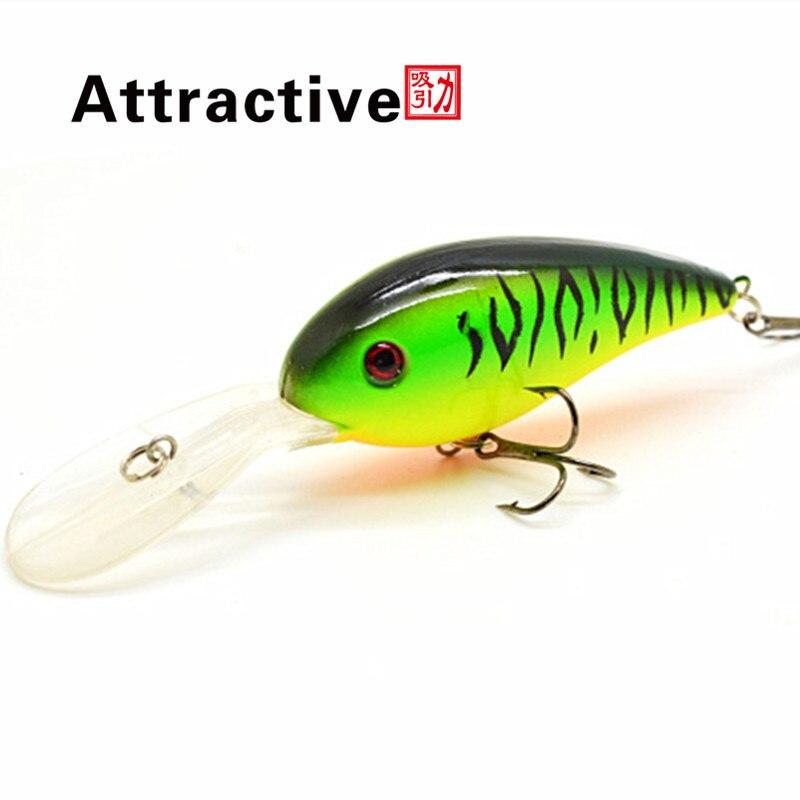 15G 10.5C Big Temptation Fishing Lures Minnow Crank Bait Crankbait Bass Tackle Treble Hook bait wobblers fishing free shipping