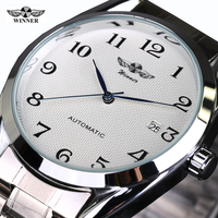 Top Luxry Brand Winner Men Automatic Mechanical Wrist Watches Stainless Steel Business Man Watch Male Atmos