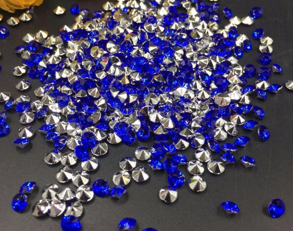 10000pcs 4mm Blue Acrylic Rhinestone Confetti Wedding Party Favor Table Scatters Crystal Decoration
