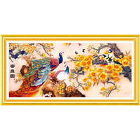 DIY 5D Diamond Painting Limited Hot Sale Needlework 154x70CM Riches And Honour Figure Peacock Household Essentials