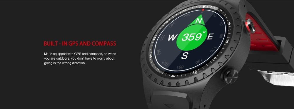 LEMFO M1 Men's Bluetooth Smart Watch With GPS IP67 Waterproof Heart Rate Monitor And Long Standby Time 3