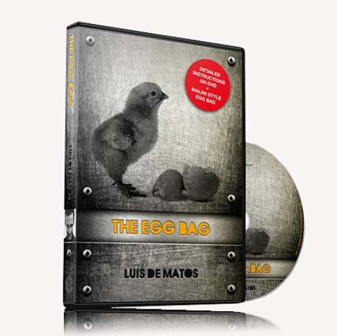 The Egg Bag (DVD+GIMMICK)  - magic trick,close up, gimmick,prop, egg magic, classic toys