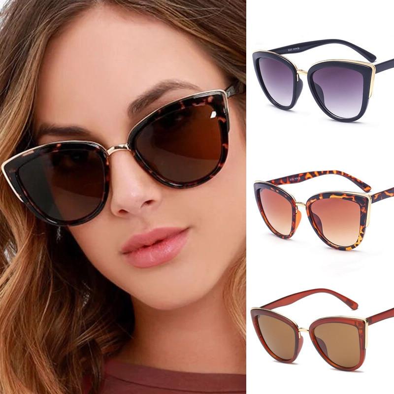Fashion Vintage Gradient Sunglasses Women Sun Glasses Cat Eye Sunglasses Female Eyewear Frame Driver Goggles Car Accessories