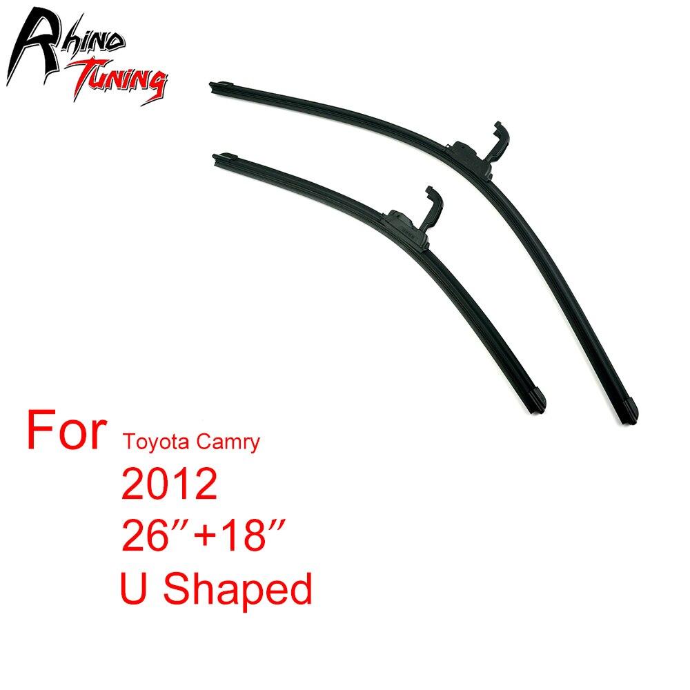 Set Black Universal U Shaped Windshield Wiper Blade  fit Toy ta