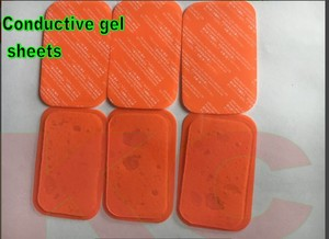 Image 1 - 1200 stücke (200 sets) ersatz leitfähigen Ausbildung gel pad blatt Sechs pads abs Gel Kompatibel mehr Bauch Muskeln gürtel