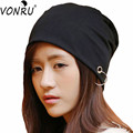 Fashion Unisex Hedging Cloth Hip-hop Hats for Women Spring Autumn Thin Men Cap with Ring Casual Beanie Hat Free Shipping M0168