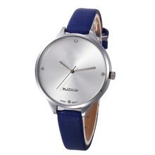 New Fashion Brand Super slim Casual Quartz Wristwatch Women Checkers PU Leather Analog Wrist Watch 2016 relojes hombre Clock