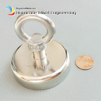 113kg Pulling Mounting Magnet Diameter 60mm Magnetic Pots Ring Fishing Gear Strong Neodymium Permanent Deep Sea
