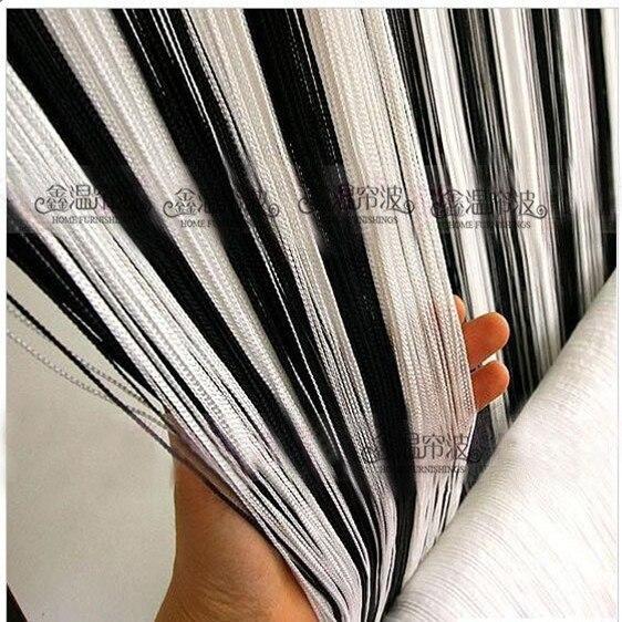 Noir et blanc Chaîne rideau paravent mariage draperie fil rideau ...