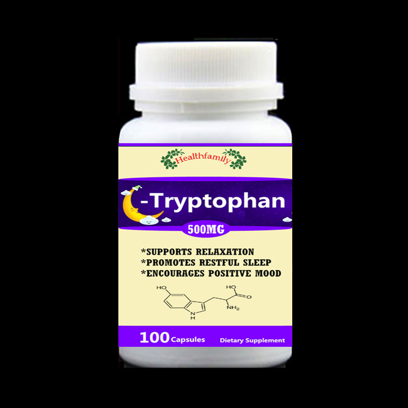 Tryptophan 99% L-Tryptophan 100pieces/bottle - Support Relaxation Promote Result Sleep Aid Support Positive Mood,free shipping 100g bag l tryptophan food grade 99% usa imported l tryptophan