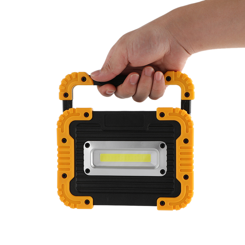 10W COB LED Lampe Camping Flashlight LED With Battery Spotlight ...