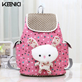 KEENICI Japan And Korean Style Teenagers Cute Rabbit Children Toddler Shoulders School Bags Backpack For Boys And Girls Pink Bow