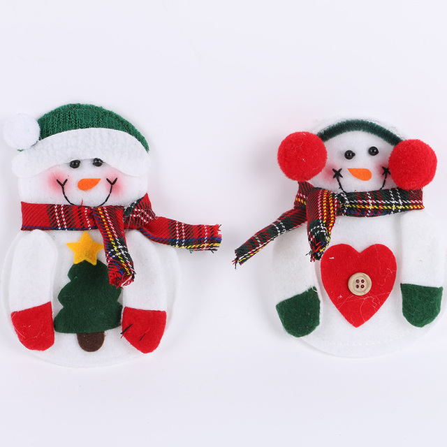 Christmas Decorations For Home 2pcs Christmas Snowman Xmas Tableware Silverware Suit Decal Dinner Party Decor Hot & Christmas Decorations For Home 2pcs Christmas Snowman Xmas Tableware ...