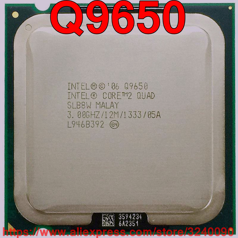 Original Intel CPU CORE 2 QUAD Q9650 Processor 3.00GHz/12M/1333MHz Quad-Core Socket 775 Free Shipping Speedy Ship Out