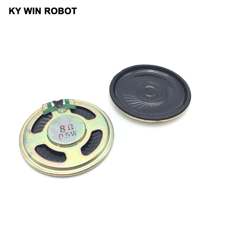 2pcs/lot New Ultra-thin Speaker 8 Ohms 0.5 Watt 0.5W 8R Speaker Diameter 40MM 4CM Thickness 5MM