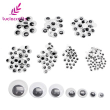520pcs lot Self adhesive Mixed 6 8 10 12 15 18 20mm Eyes For Toys Dolls