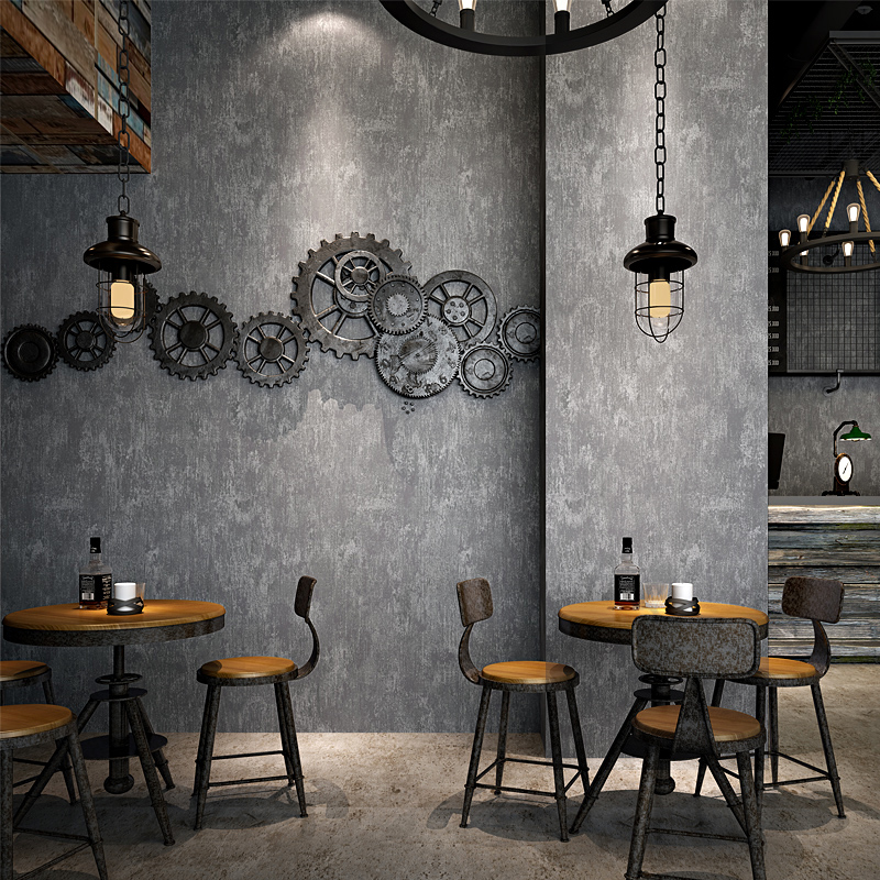 Vintage Wallpaper Modern 3D Grey Cement Non-woven Wall Paper Restaurant Clothing Store Cafe Background Wall Covering Rolls Decor free shipping hepburn classic black and white photographs women s clothing store cafe background mural non woven wallpaper