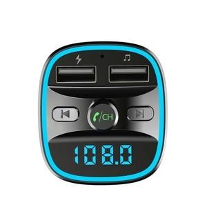 Image 3 - Bluetooth 5,0 Автомобильный mp3 музыкальный плеер fm приемник передатчик двойной USB Автомобильное быстрое зарядное устройство U диск/TF карта без потерь Музыкальный плеер