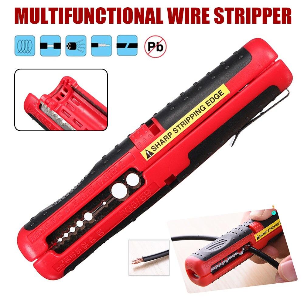 Aletler'ten Penseler'de Koaksiyel kablo tel kalem kesici Stripper el pense aracı kablo sıyırma için QJS dükkanı title=
