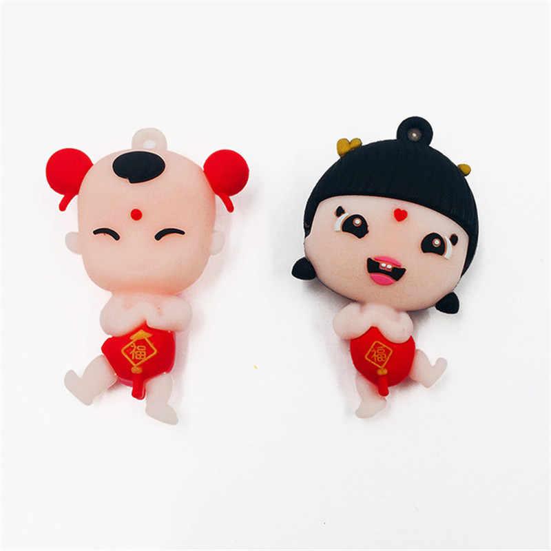 2019 ใหม่ 1 Pcs Golden boy หยกหญิง lucky boy Fuwa key แหวนจี้กระเป๋ารถอุปกรณ์เสริมกิจกรรม micro - ธุรกิจของขวัญขนาดเล็ก