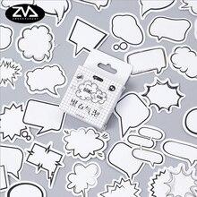 45pcs/lot  Cartoon Dialog box sticker decoration diy Scrapbooking Stickers for album korean kawaii stationery