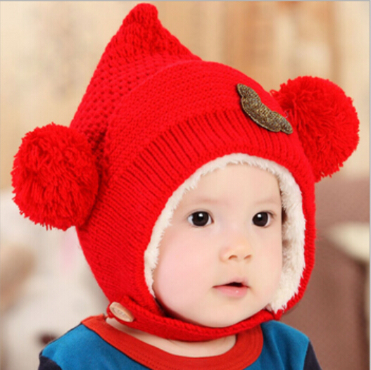 fcf050fc9e6 2017 new children bomber hat with ears kids warm hat winter beanie baby boy  face cap