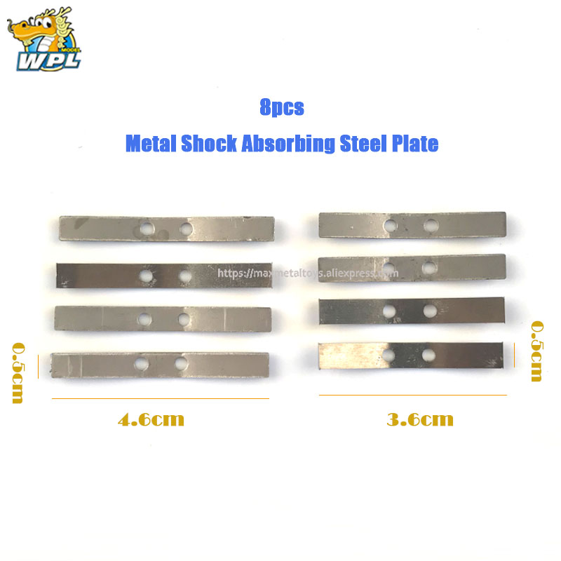 Metal Shock Absorbing Plate Sheet for WPL 1//16 Pickup Army Truck Replacement
