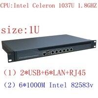 C1037u Mini pc 6 Lan прибор сервера, межсетевой экран устройства 1U стоечный сервер, pfsense firewall маршрутизатор Pfsense для Интернет кафе