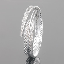 Silver Gold retro angel feather bracelet SF
