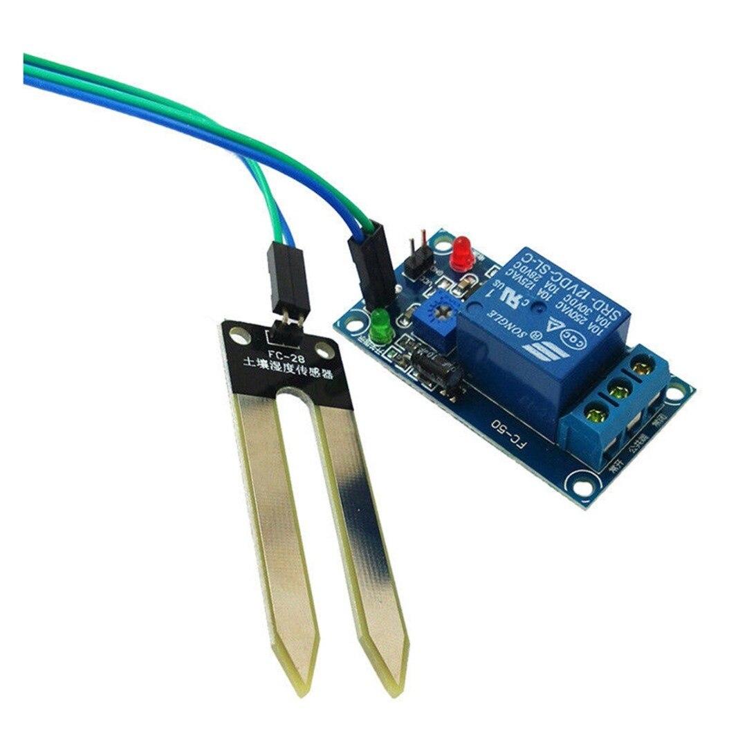 DC12V Feuchtigkeitssensor Bodenfeuchtesensor Hygrometer mit Relais Relay Arduino