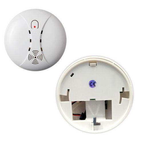 2 Packs Wireless Fire Smoke Detector WIFI GSM Home Security Smoke Alarm Sensor minritech 110 220v wireless smoke fire detector smoke alarm for touch keypad panel wifi gsm home security system