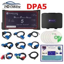 Senza Bluetooth Dpa5 Dearborn Protocol Adapter 5 Heavy Duty Truck Scanner CNH DPA 5 Funziona Per Il Multi-marche Multi -lingua
