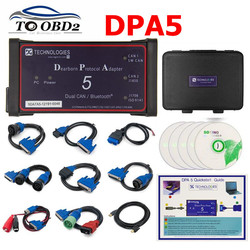 Zonder Bluetooth Dpa5 Dearborn Protocol Adapter 5 Heavy Duty Truck Scanner CNH DPA 5 Werkt Voor Meerdere merken Multi -taal
