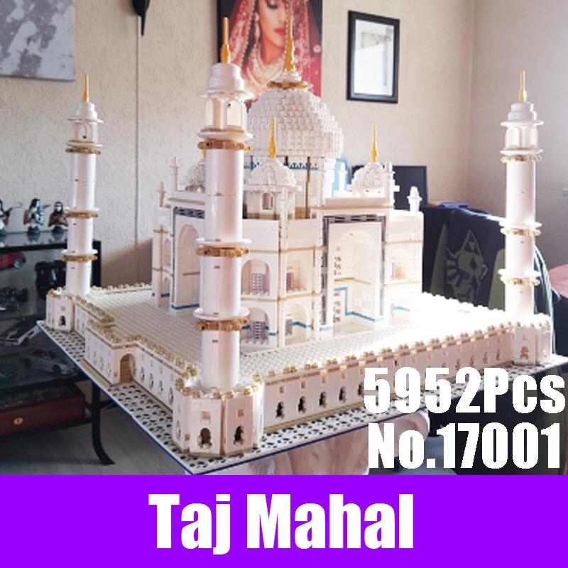 2017 New LEPIN 17001 5972pcs The Taj Mahal Model Blocks Building Kits Bricks Toys Compatible 10189 DIY Educational Children Gift