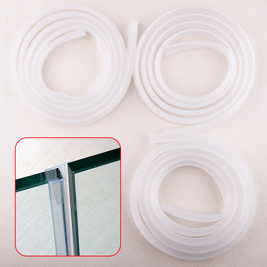 Us 7 34 25 Off Clear 2m Rubber Silicone Bath Shower Room Screen Door Window Seal Strip Gap Curved Flat 0 6cm 1cm 1 2cm In Bathroom Accessories Sets