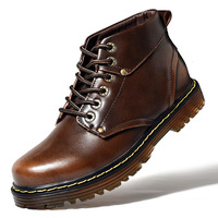 Martin boots men's 2018 new men's boots in autumn and winter retro trend of polished leather boots high top men's shoes