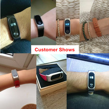 Leather Strap Wrist Band For Mi band 2 Screwless Bracelet