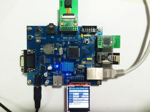 WIFI-IOT Internet of things development board remote voice video smart home MQTT GPRS SPEEX m35 gsm gprs cell phone development board module w voice interface antenna blue