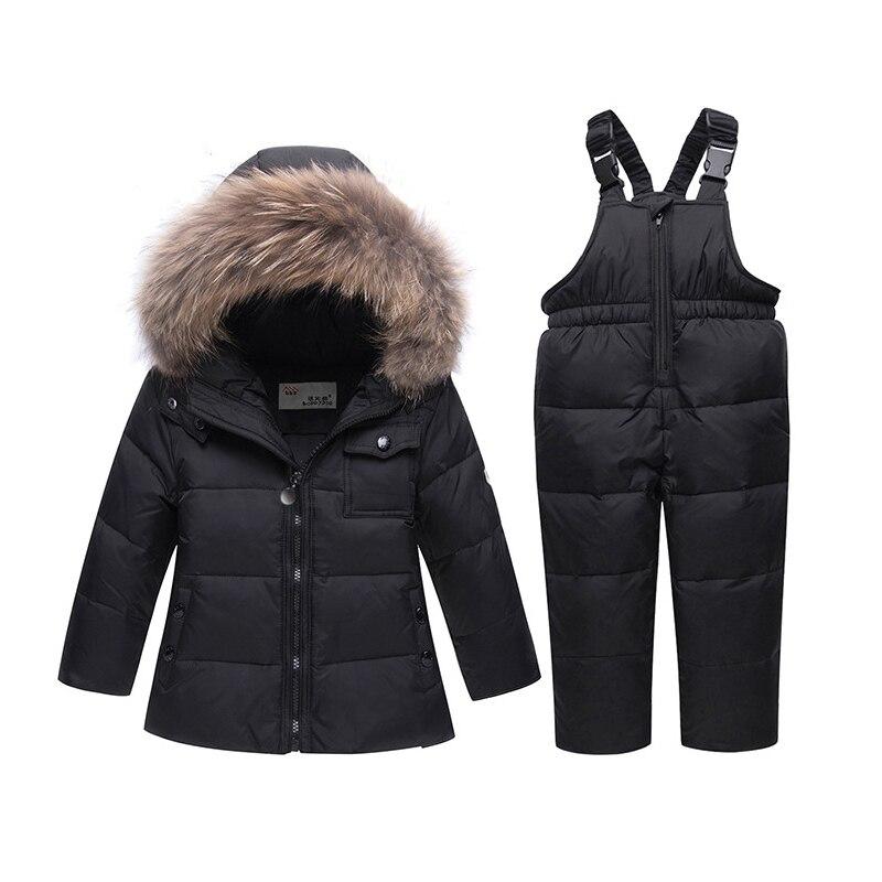 WWinter Girls Warm Clothing Sets Boys Outerwear Coat+Pants 2PCS Children Down Jackets Kids Snowsuit Ski Suit Baby Walking Dress все цены