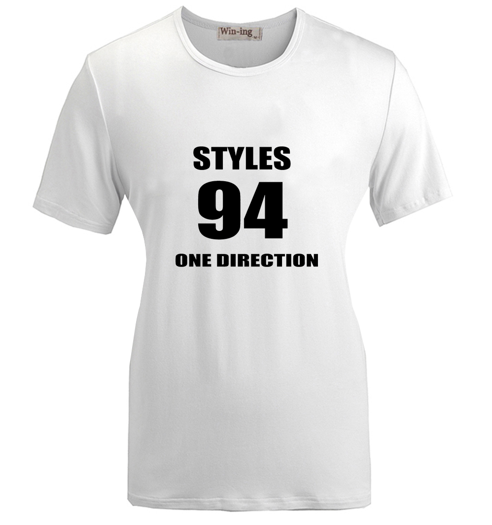 Design t shirt one direction -  Styles No 94 One Direction 1d Band Design Pattern Printed Short Sleeves T Shirt
