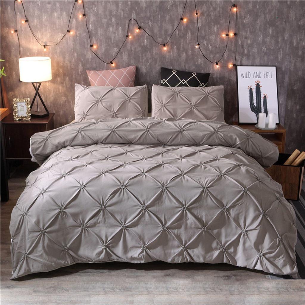 Classic bedding set 5 size grey blue flower bed linen 3pcs/set duvet cover set Pastoral bed sheet AB side duvet cover 2019 bed