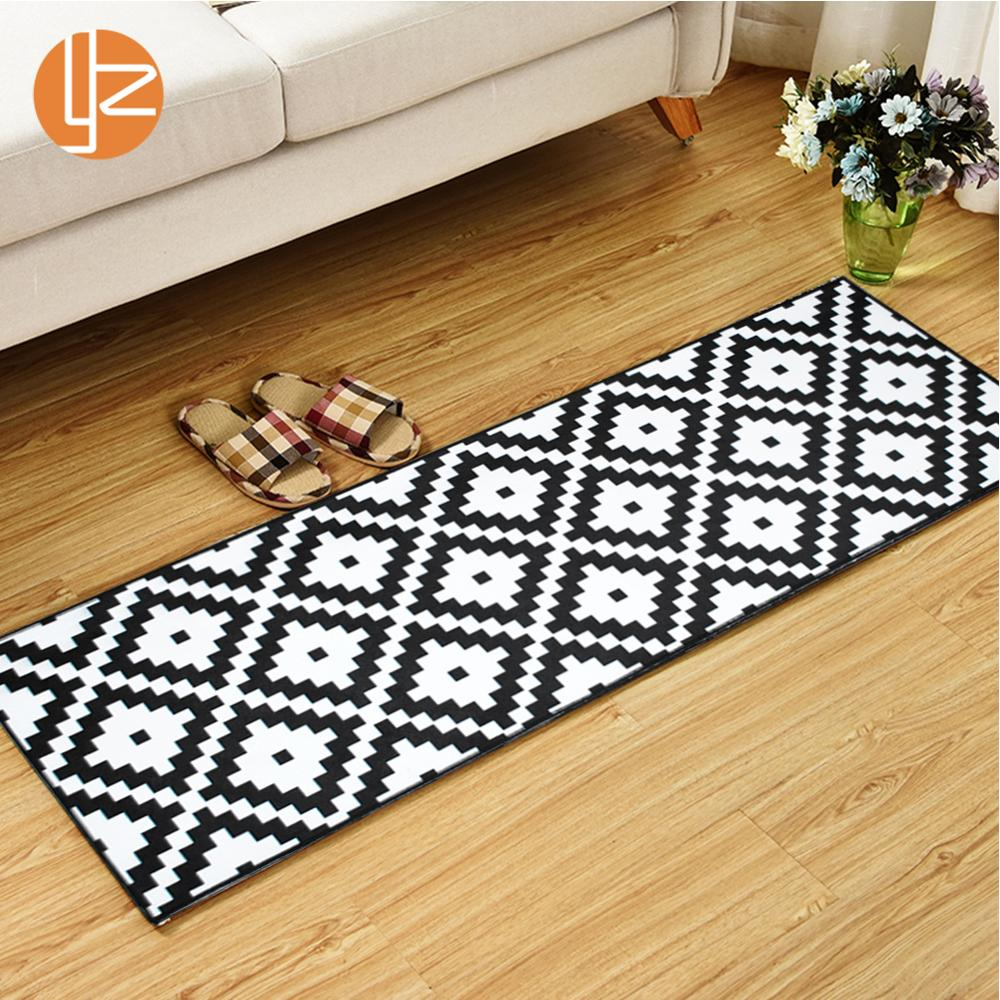 US $6.4 36% OFF|Yazi Long Kitchen Mat Bath Carpet Floor Mat Home Entrance  Doormat Bedroom Living Room Floor Mats Modern Kitchen Rug-in Mat from Home  & ...