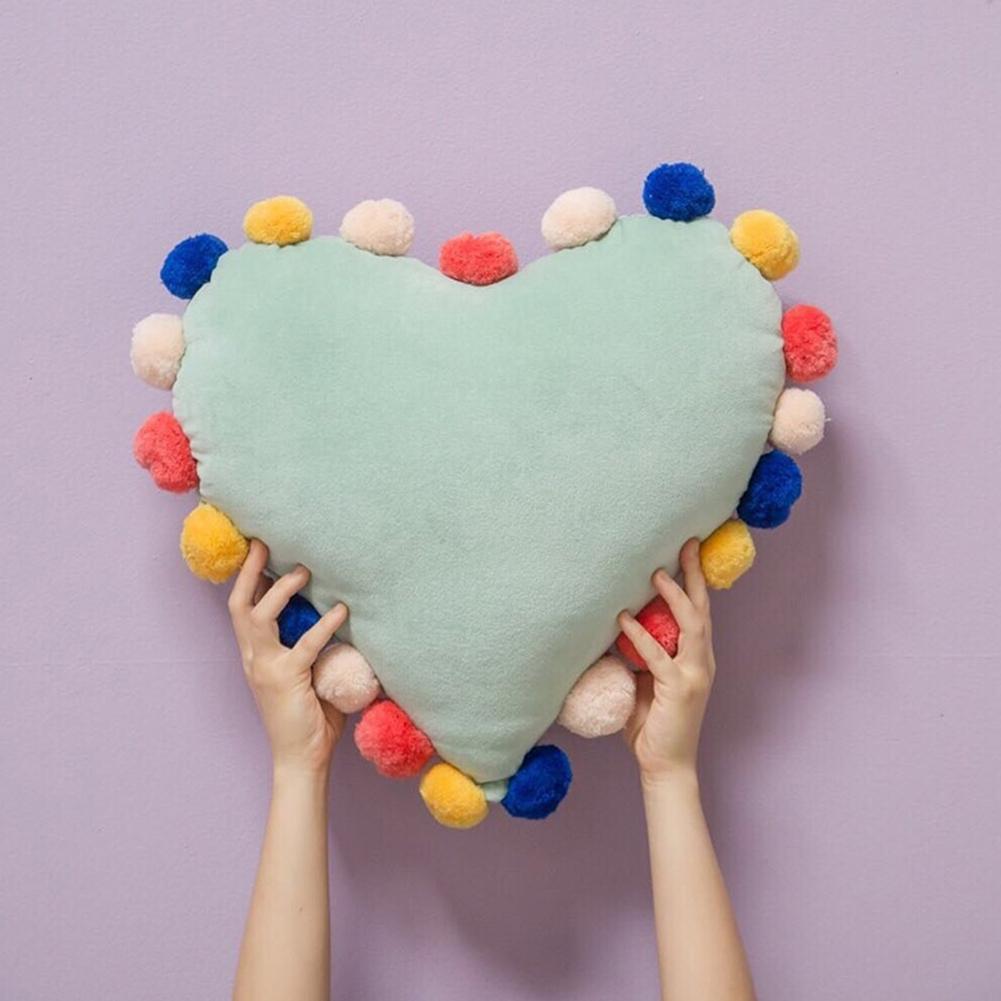 Милые плюшевые шары Прямоугольник Сердце подушки детские подушки сидя мат малыш украшения комнаты