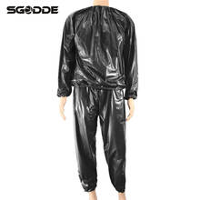 Fitness Waterproof PVC Heavy Duty Sauna Suit Sweat Clothes Gym Training Slimming Workout Weight Loss Sauna