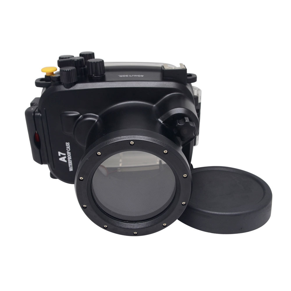 Mcoplus 40m / 130ft Waterproof Underwater Camera Diving Housing Case for Sony A7/A7r/A7s 28-70mm Lens Camera mcoplus for sony a7ii a7 mark ii camera waterproof case 100m 325ft alloy manufacturing underwater camera diving housing bag
