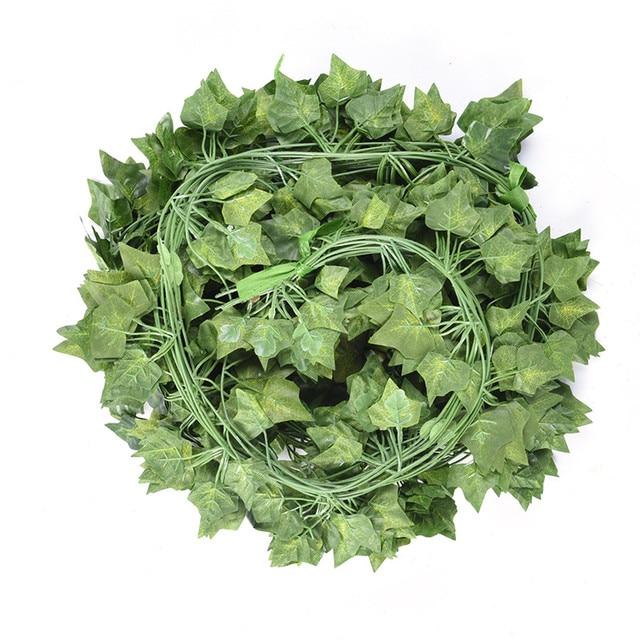 12pcs/lot artificial diy wedding rattan ivy silk willow green leaf