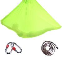 High Strength 4m/5m/6m/7m Nylon Anti gravity Aerial Yoga Hammock Air Inversion Trapeze w/ Daisy Chain Carabiners 16 Colors