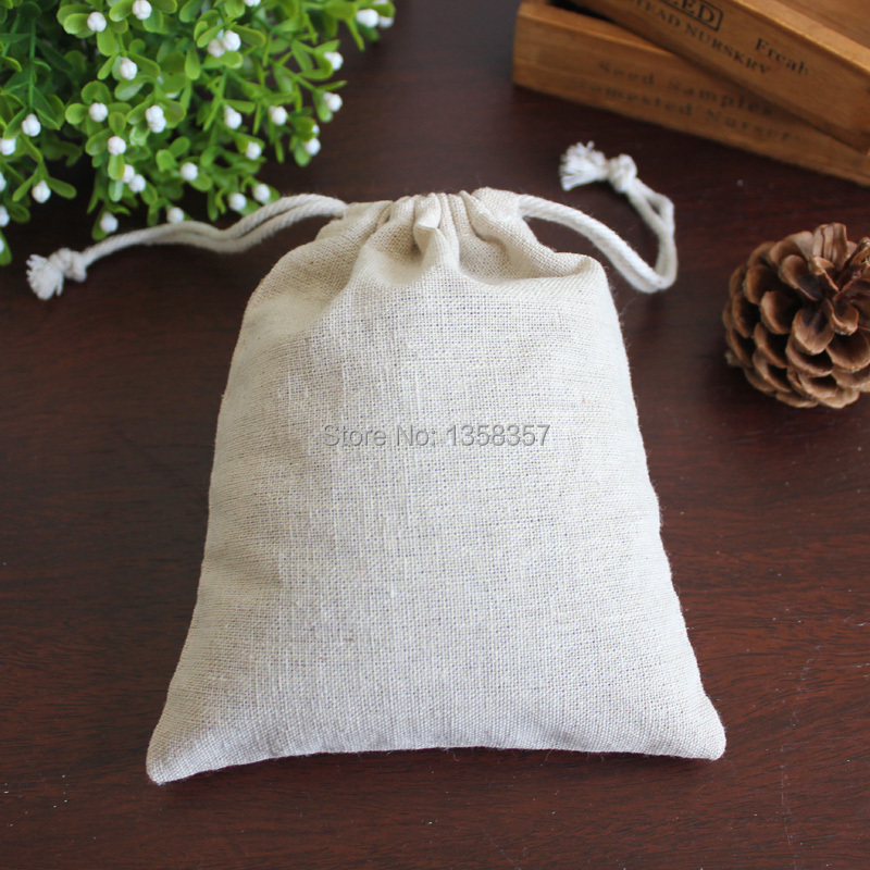 (100pcs/lot)High Quality Jute/linen/flax Drawstring Jewerly Bag For Accessory/nut/beans,Size Be Customized,many Colors,wholesale